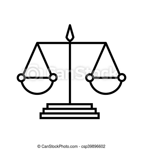 scale of justice law. scale law balance measure instrument vector