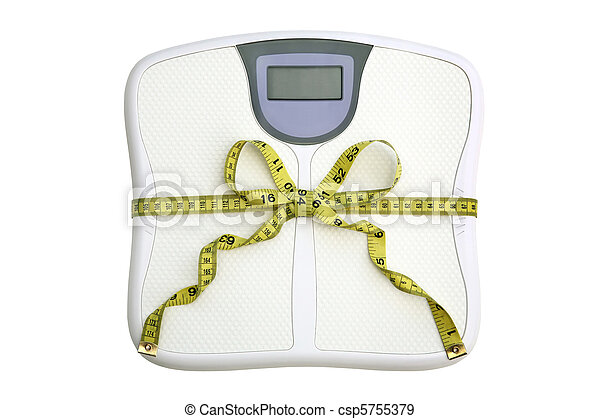 Scale with tape measure bow - csp5755379