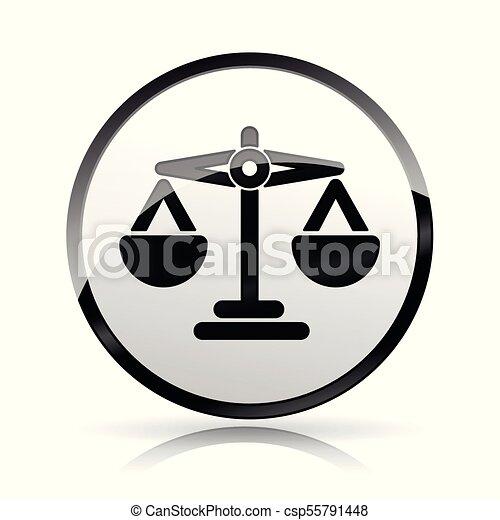 scales icon on white background - csp55791448