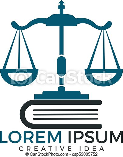 scales of justice and book logo design symbol of law and clipart rh canstockphoto com scales of justice logo free scales of justice logo free