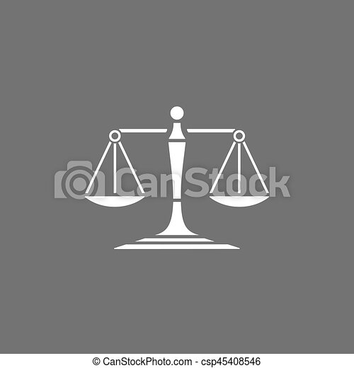 Scales of justice icon on a dark background - csp45408546