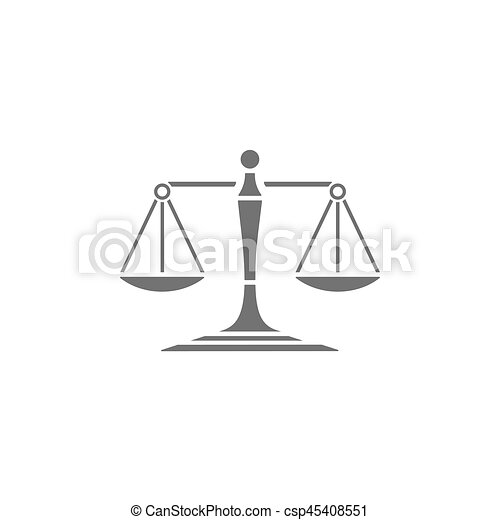 Scales of justice icon on a white background - csp45408551