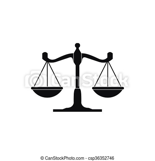 Scales of justice icon, simple style - csp36352746