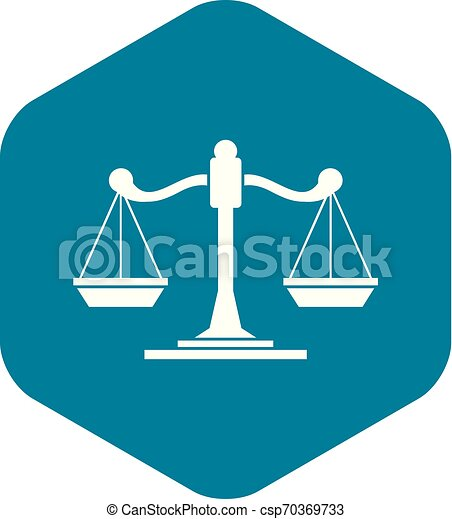 Scales of justice icon, simple style - csp70369733