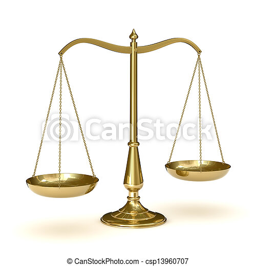 Scales of justice - csp13960707