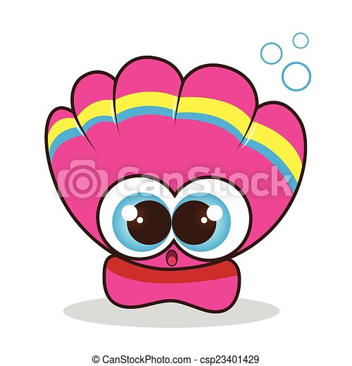 Scallop cute cartoon - csp23401429