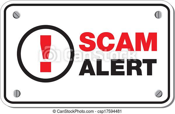scam alert rectangle sign - csp17594481