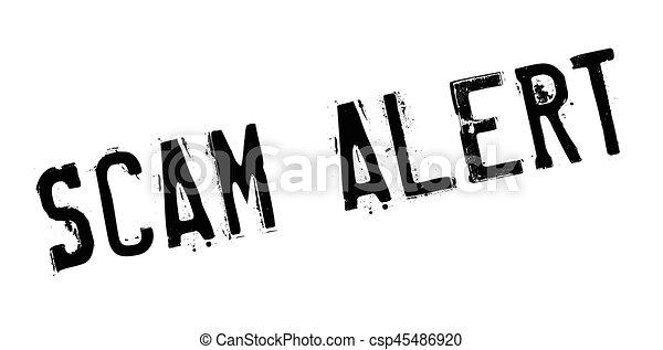 Scam Alert rubber stamp - csp45486920
