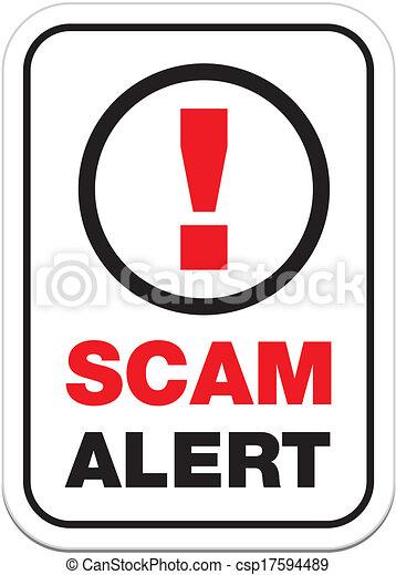 scam alert sign - csp17594489