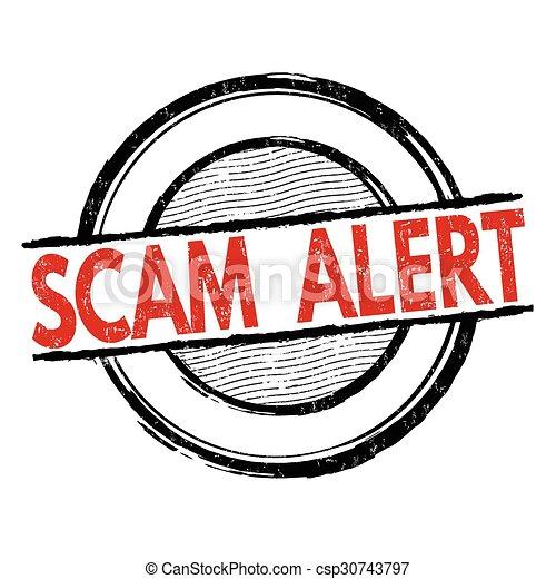 Scam alert stamp - csp30743797