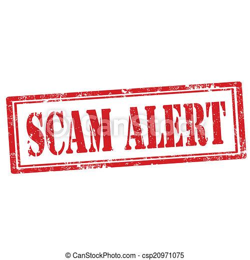 Scam Alert-stamp - csp20971075
