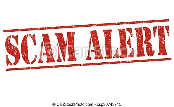 Scam alert stamp - csp30743715