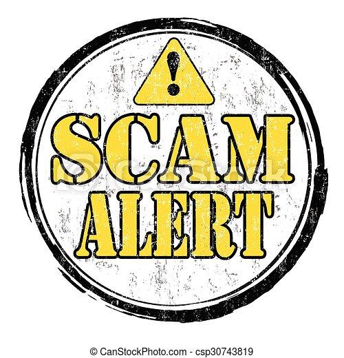 Scam alert stamp - csp30743819