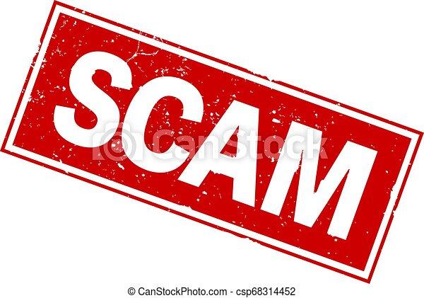 Palabra SCAM en la impresión de sello rojo - csp68314452