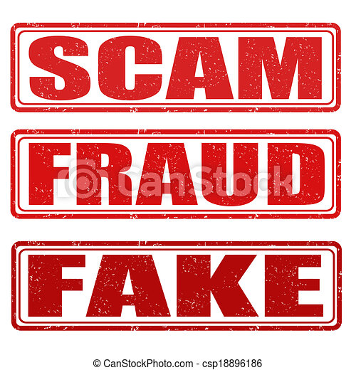 Scam, fraud and fake stamps - csp18896186