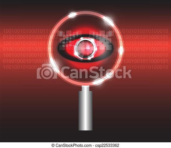 Scan virus - csp22533362