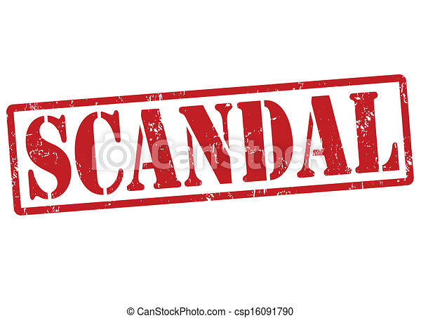 Scandal stamp - csp16091790
