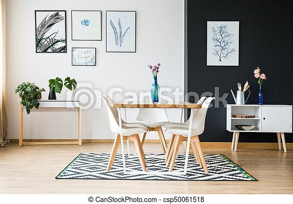 scandi essen stil zimmer stil zimmer scandi modern stockfotografie bilder und foto. Black Bedroom Furniture Sets. Home Design Ideas