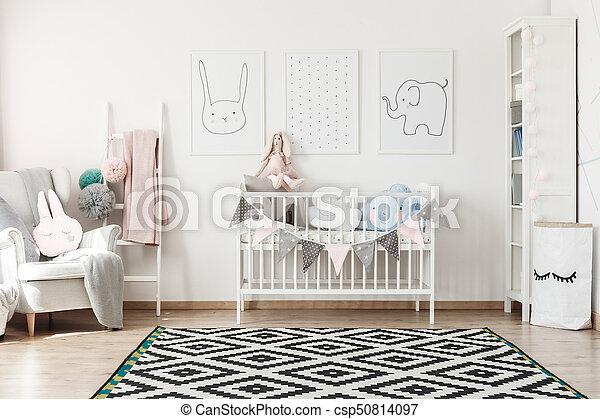 Bed Voor Kind.Scandi Kamer Bed Kind Kamer Kind Scandi Leunstoel