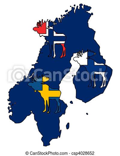 Scandinavian moose - csp4028652