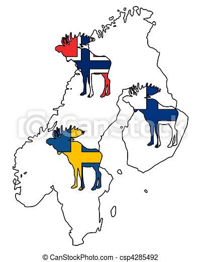 Scandinavian moose - csp4285492