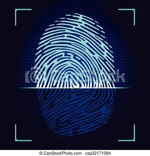 scanner, fingerabdruck - csp32171084