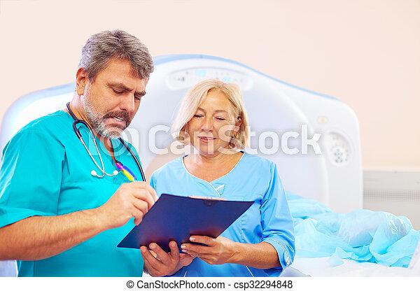scanner, form, medizin, anwendung, füllung, personal, verfahren, ct - csp32294848