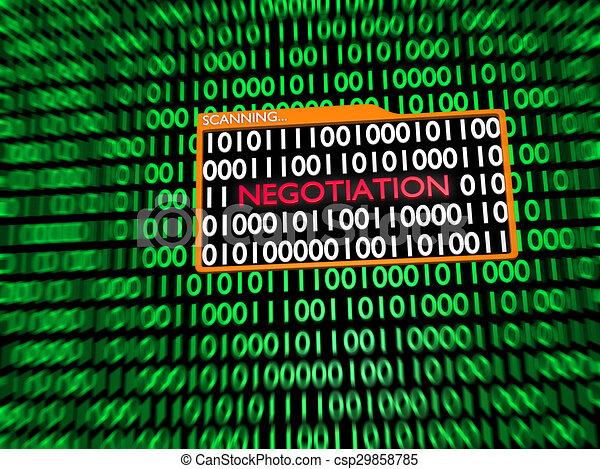 Scanning Hidden Digital Negotiation - csp29858785