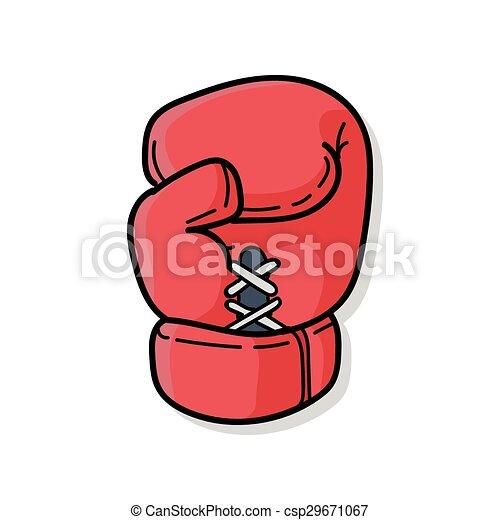 scarabocchiare, guantoni da box - csp29671067