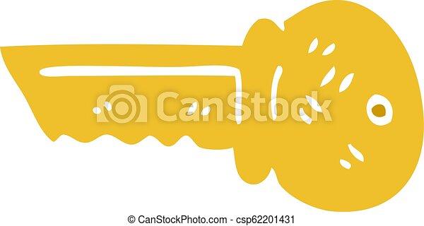 scarabocchiare, oro, cartone animato, chiave - csp62201431