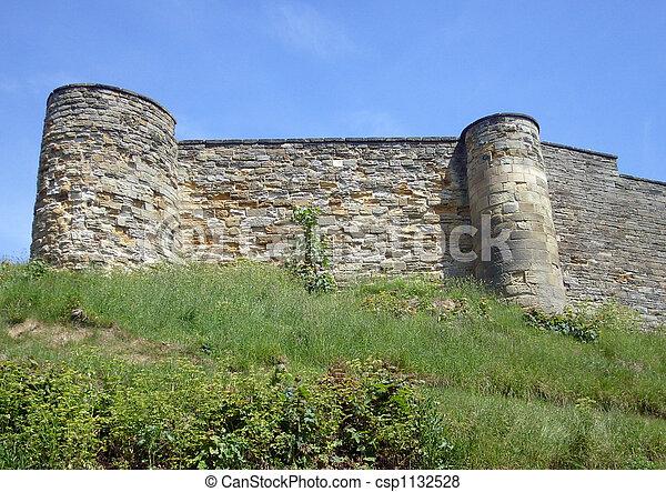 Scarborough Castle battlements - csp1132528