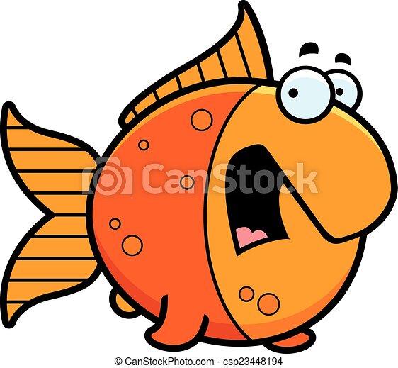scared cartoon goldfish a cartoon illustration of a eps vectors rh canstockphoto com clipart goldfish clipart goldfish black and white