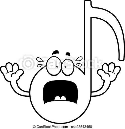 scared cartoon musical note a cartoon illustration of a clip art rh canstockphoto com Abstract Vector Music Notes Vector