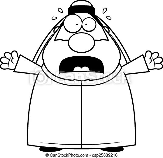 Image result for scared imam clipart