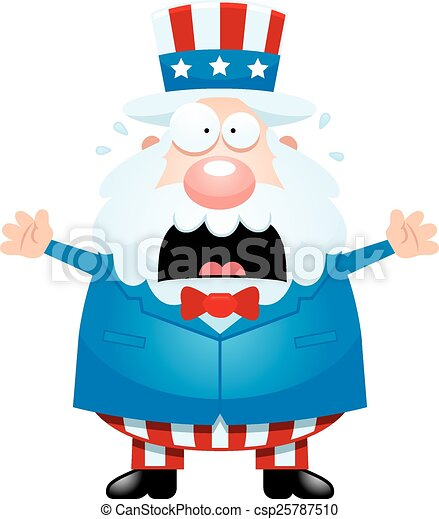 scared cartoon uncle sam a cartoon illustration of uncle vector rh canstockphoto com free clipart uncle sam wants you free uncle sam clipart