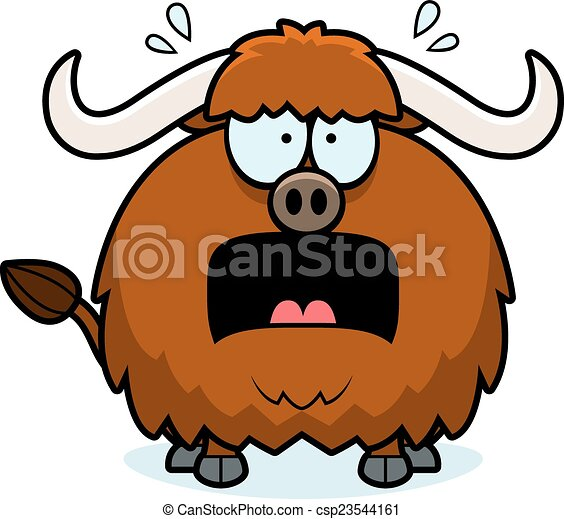 scared cartoon yak a cartoon illustration of a yak looking clip rh canstockphoto com yak clipart images yak clipart images