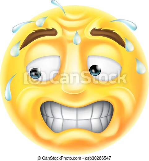 scared emoticon emoji a scared worried or embarrassed looking emji