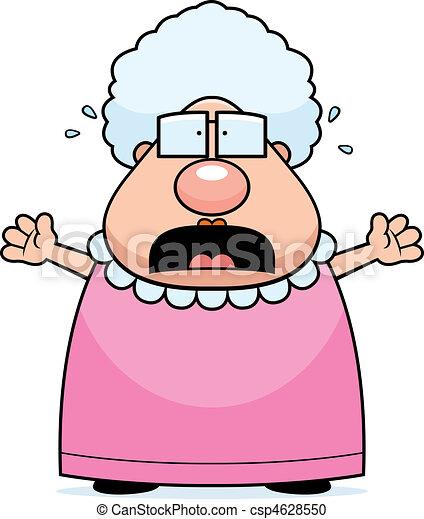 Scared Grandma - csp4628550