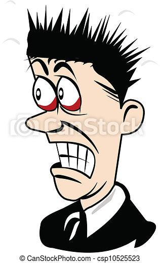 scared man cartoon - csp10525523