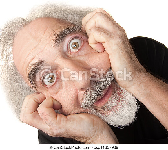 Scared Senior Male - csp11657989
