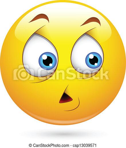 Scared Smiley Face - csp13039571