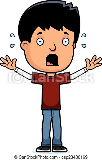 scared teen boy a cartoon illustration of a teenage boy clip art rh canstockphoto com scary clip art free scared clipart face