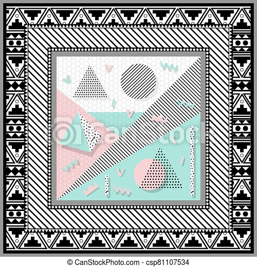 scarf abstract background - csp81107534