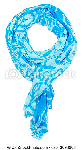 Scarf isolated on white background - csp43093903
