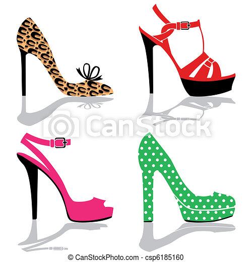 scarpa, collezione, donne - csp6185160