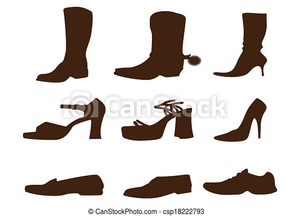 scarpe, collezione - csp18222793