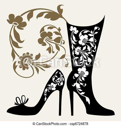 scarpe, collezione - csp6724878