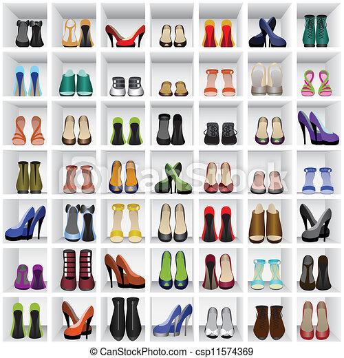 scarpe, mensole - csp11574369