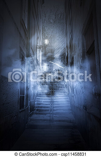 Scary alley - csp11458831