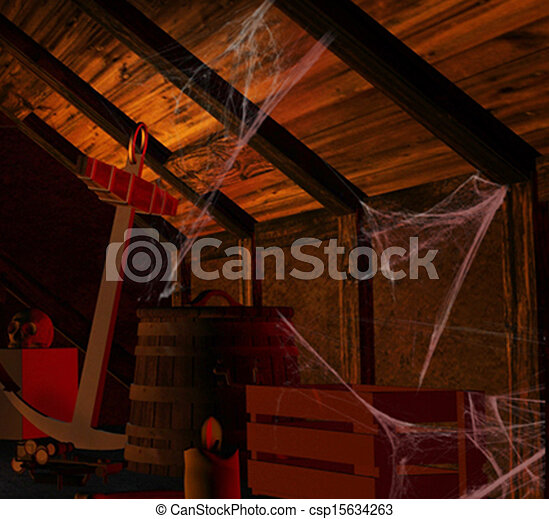 Scary Attic Scary Attic Filled With Dusty Ancient Artifacts